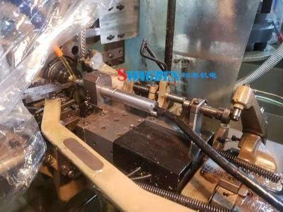 NAKANISHI主轴装在凸轮机小工件钻孔案例