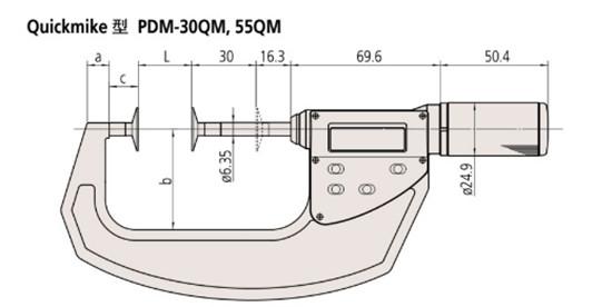 日本三丰盘型千分尺369-411尺寸图