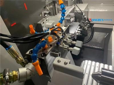 NAKANISHI高速电主轴在津上走芯机S205A上钻微孔案例