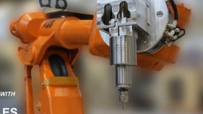 NAKANISHI自动换刀主轴搭配机器人用于不锈钢轮盘去毛刺