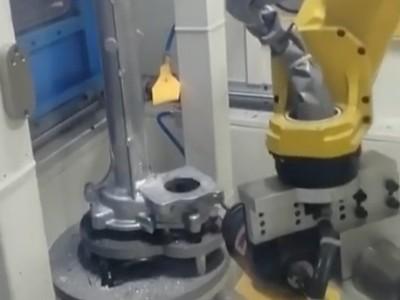 铝合金件浮动主轴去毛刺自动化设备加工