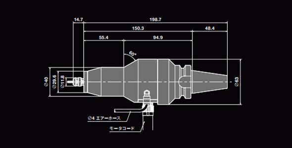 日本NAKANISHI电主轴HES810-BT30尺寸图