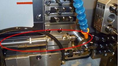 铍铜合金0.09mm微孔,走心机上用NAKANISHI主轴NR-2551钻微孔