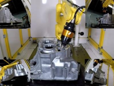 NAKANISHI浮动主轴实现360°全方位铝铸件去毛刺加工