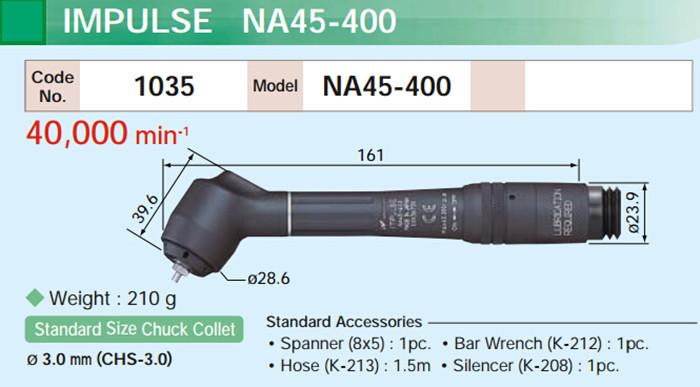 NSK脉冲打磨笔NA45-400尺寸图