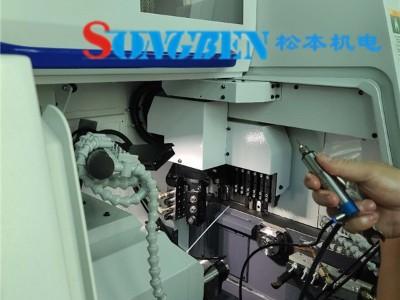 NAKANISHI高频铣安装在西铁城走芯机案例