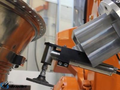 NAKANISHI直角主轴与大扭矩高速主轴结合用于不锈钢去毛刺