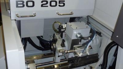 津上走心机BO205可安装NAKANISHI高频铣BM-320进行高精密件加工