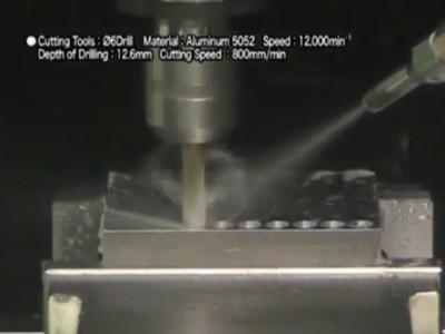 NAKANISHI高速电主轴对铝件进行钻孔和铣削加工
