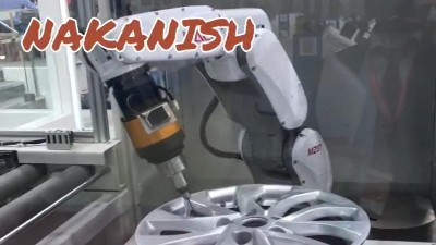 NAKANISHI自动换刀主轴对汽车轮毂去毛刺的加工