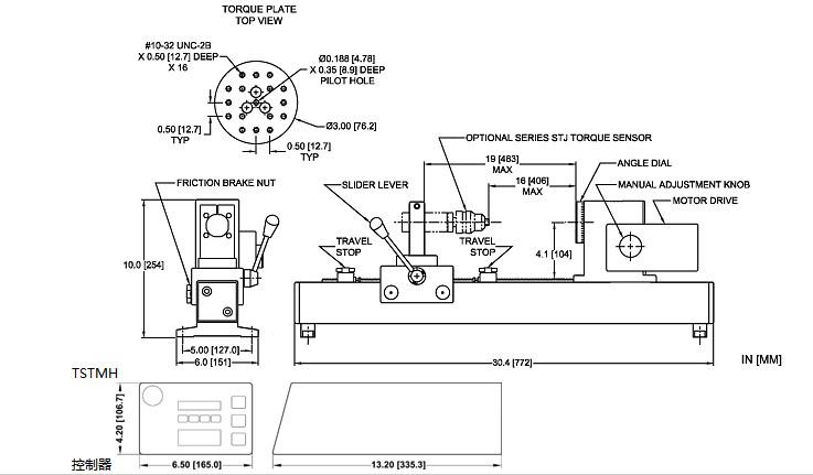 电动瓶盖扭力计TSTM-DC尺寸2