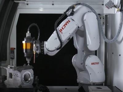 NAKANISHI电动主轴配浮动机器人自动化去毛刺