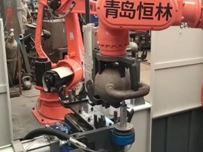 NAKANISHI电主轴NR-3060S搭配浮动机器人打磨壶铃合模缝