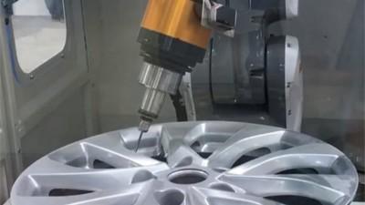 NAKANISHI自动换刀主轴应用于铝合金汽车轮毂柔性去毛刺