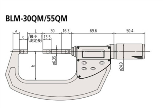 日本三丰薄片型千分尺422-411尺寸图