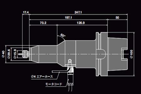 日本中西主轴HES510-HSK A100尺寸图