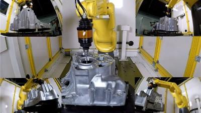 工件不规则位置去毛刺,NAKANISHI浮动主轴360°浮动进行去除