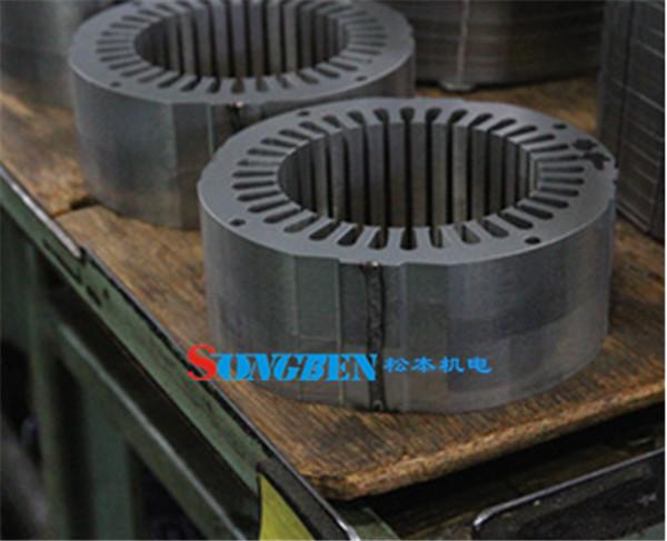 混合动力汽车电机芯膨胀的焊缝