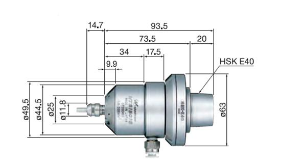 HTS1501S-HSK E40尺寸图