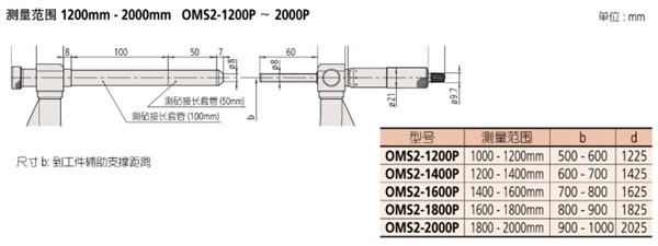 日本三丰轻量型外径千分尺105-408尺寸图