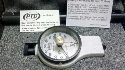 美国PTC指针式橡胶硬度计的使用方法