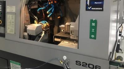 日本津上S206走心机加载高频铣动力头BM-320F