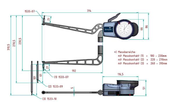 内卡规H4M180尺寸图