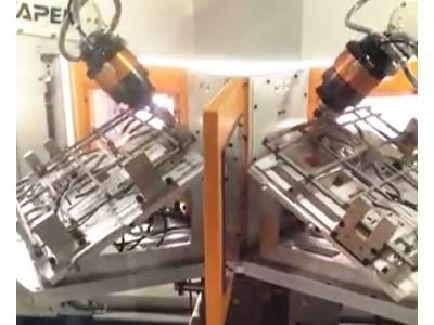 大扭矩浮动主轴4040-B20应用于批量铸铁烧烤架去毛刺