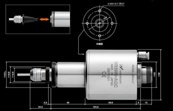 自动换刀主轴NR3060-AQC尺寸图
