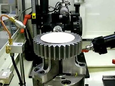 NAKANISHI电动主轴安装在倒角机对齿轮进行去毛刺