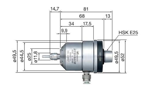 HTS1501S-HSK E25尺寸图