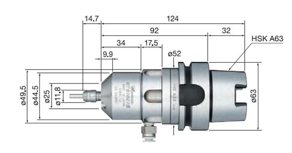 HTS1501S-HSK A63尺寸图