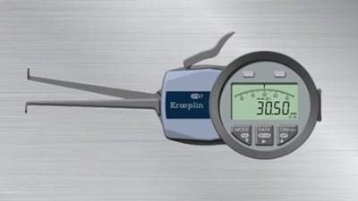 如何使用德国KROEPLIN内卡规测量工件内沟槽?