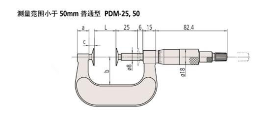 日本三丰mitutoyo盘型千分尺169-201尺寸图