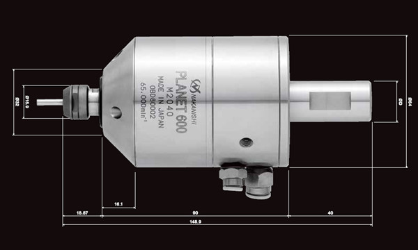 气动主轴PL600尺寸图