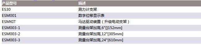 美国mark-10手轮测力计支架ES30参数