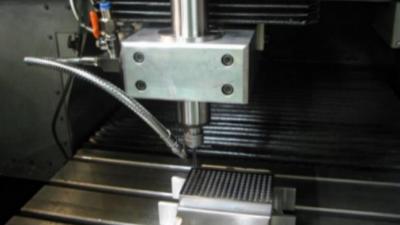 NAKANISHI电动主轴BMS-4020对铝件的铣削钻孔