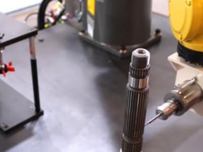 NAKANISHI自动换刀主轴NR4040-AQC用于螺纹机器人去毛刺视频