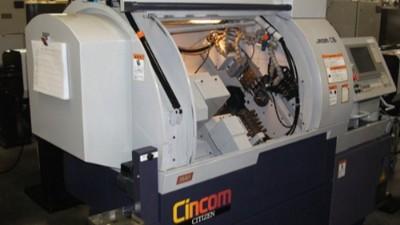 西铁城C16走心机可加装气动主轴MSS-1930RA进行钻孔加工